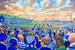 Hand Painted original of cappielow on matchday