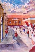 Hand Painted original of tynecastle going to the match