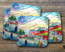 knowsley road gtm   Coaster set of four