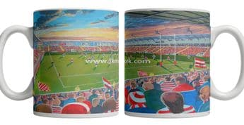 leigh sports village on matchday mug