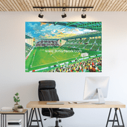 new easter road  a1 size wall sticker