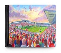 racecourse ground PU leather wallet