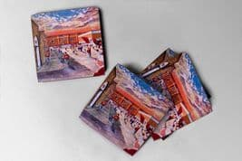 tynecastle going to the match Coaster set of four