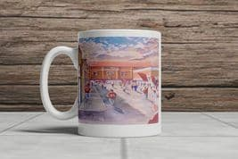 tynecastle going to the match mug