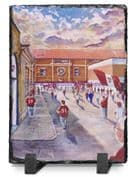 tynecastle going to the match  slate print