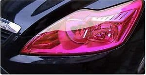 30 x 50cm PINK Headlight Tint Film Fog Tail Lights Tinting Wrap, 2 DAYS DELIVERY