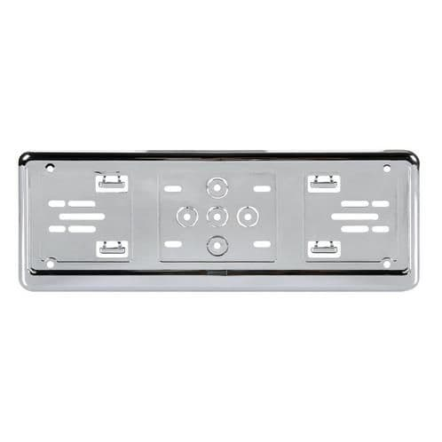 Chrome Number Plate Holder Surround Personalised Plate - Small Number Plate