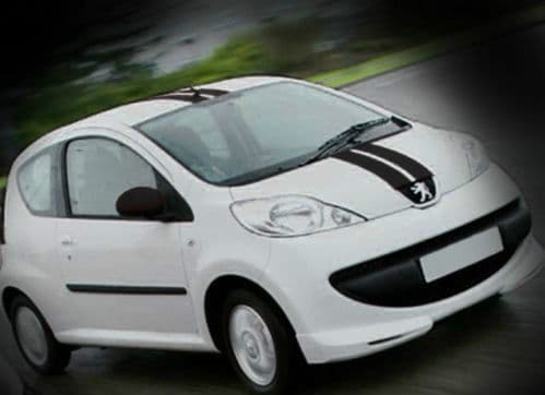 CITREON AYGO RACING STRIPES BLACK - TOP QUALITY STRIPES