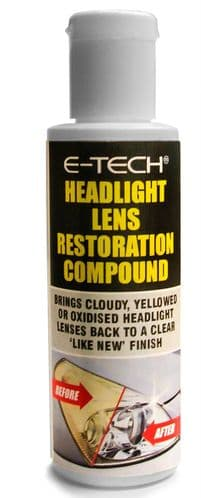 Headlight Cleaner Lamps & Tail Lights Clear Lens Restoration Compound Wax