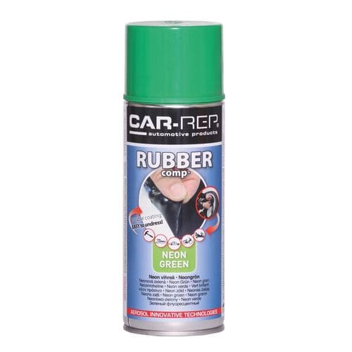 NEON GREEN Rubber-comp Rubber Paint Spray Film Removable Plastic dip 400ml