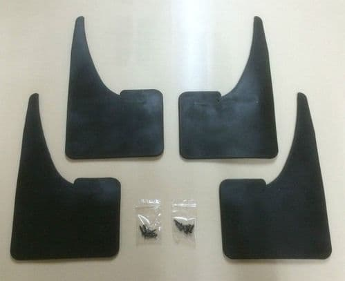 SKODA MUDFLAPS SET OF 4 WITH FITTINGS