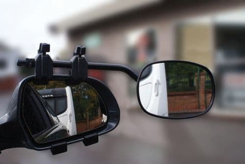 Super Steady Caravan Towing Mirror Twin Pack Universal Fit Glass
