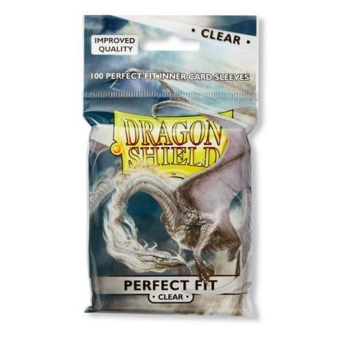 Dragon Shield Perfect Fit Toploading Sleeves Standard Size - Clear (100)