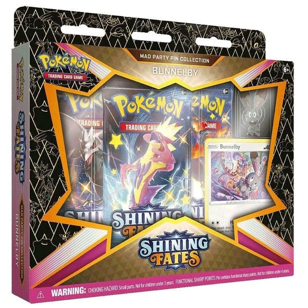 Pokemon Shining Fates Mad Party Pin Collection - Bunnelby