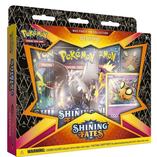 Pokemon Shining Fates Mad Party Pin Collection - Dedenne