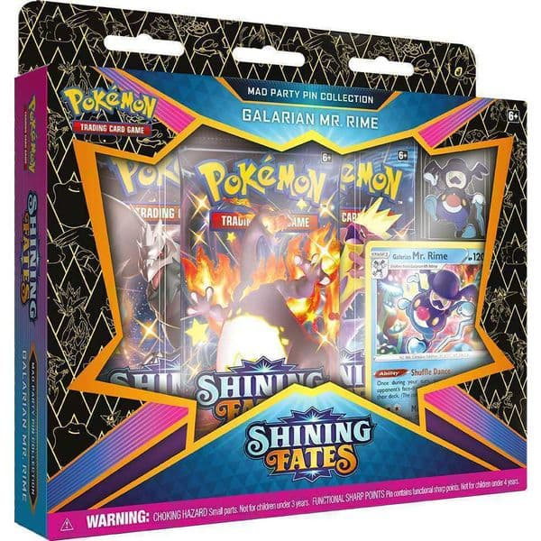 Pokemon Shining Fates Mad Party Pin Collection - Galarian Mr Rime
