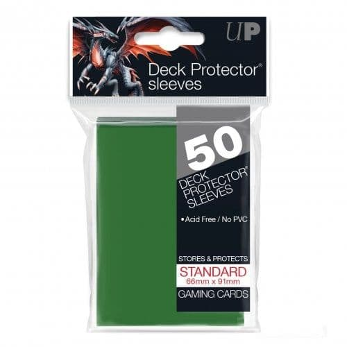 Ultra PRO Green Standard Deck Protector Sleeves (50)