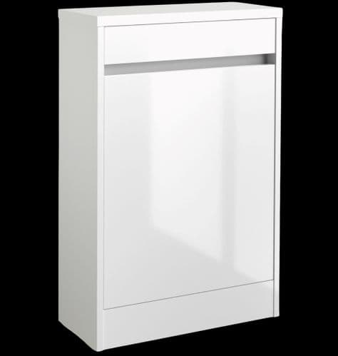 City 500mm White Back to Wall WC Unit