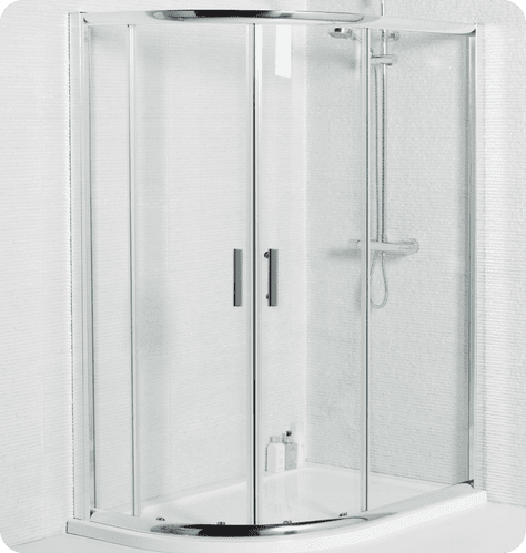 Kartell Koncept 6mm Offset Quadrant  Shower Door