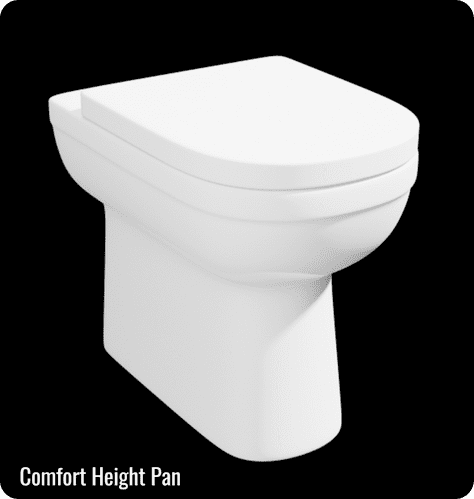 Lifestyle Comfort Height BTW Pan with a Quick Release Soft Close Seat - Pan Height 450mm