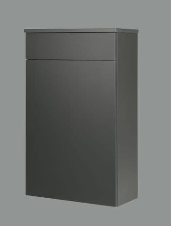 Purity 500mm Storm Grey Gloss Floor Standing Back to Wall WC Unit