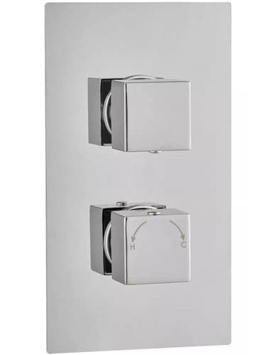 VBS Single Outlet Square Control Concealed Thermostatic Shower Valve
