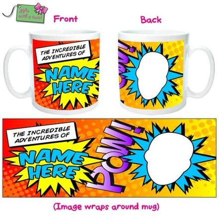 Adventures of cartoon mug