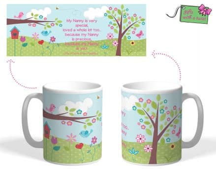 Birds and Flowers themed mug