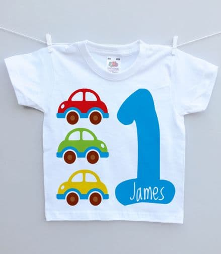 Birthday t-shirt cars