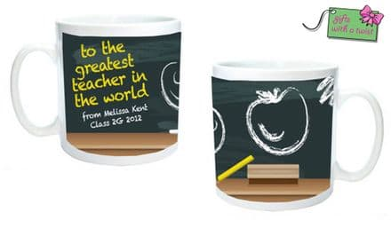 Blackboard teacher mug