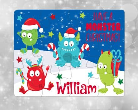 Christmas monster jigsaw