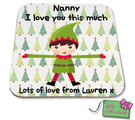 Christmas tree love you this much coaster