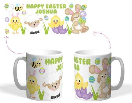 Easter mug chick bunny ears