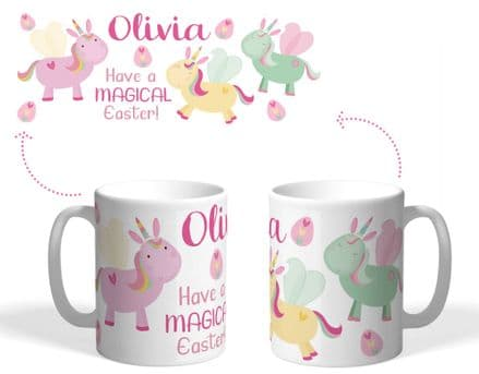 Easter unicorn mug