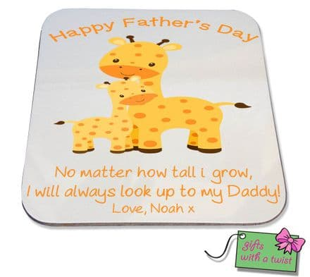 Fathers Day Giraffe coaster