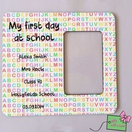 First day at school alphabet photo frame