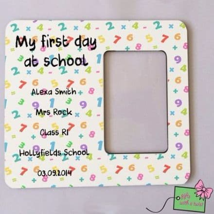 First day at school numbers photo frame