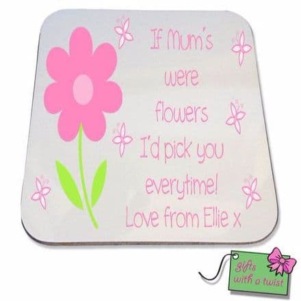 Flower quote coaster