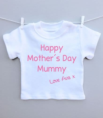 Happy Mother's Day text t-shirt