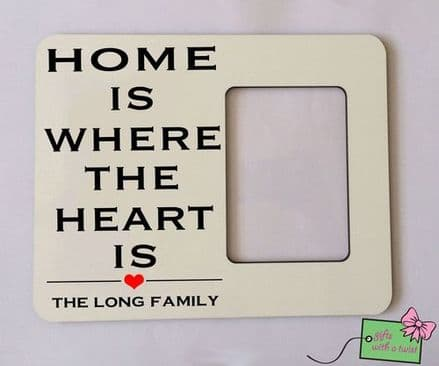 Home is where the heart is photo frame