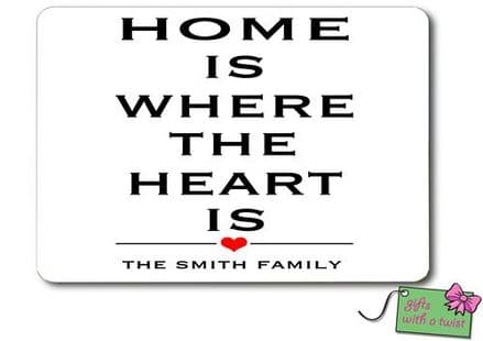Home is where the heart is placemat