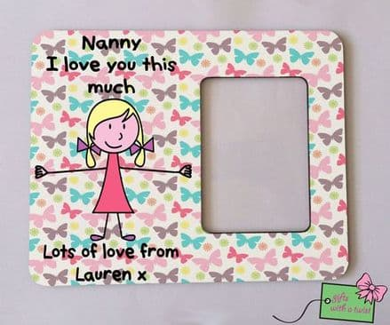 I love you this much butterfly photo frame