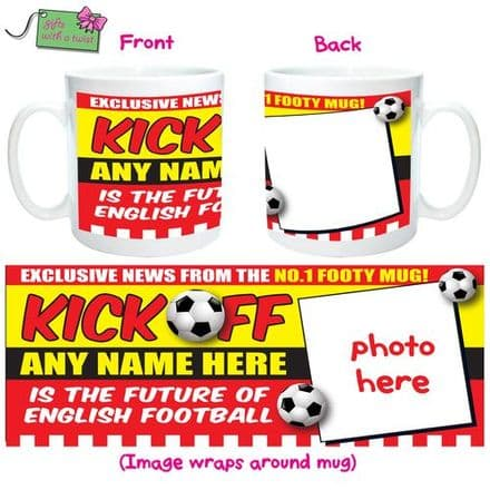 Kick off football mug