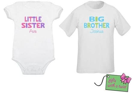 Matching sibling tshirt/bodysuit coloured