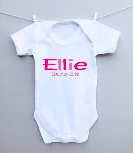 Name and date bodysuit