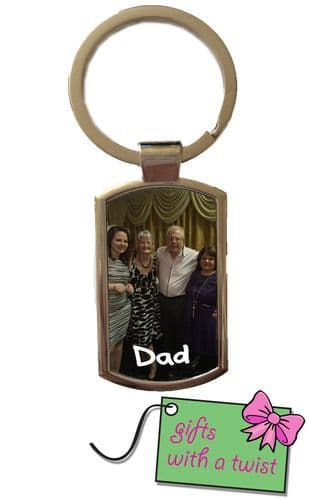 Photo and text keyring