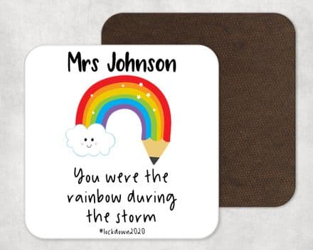 Rainbow during storm teacher coaster