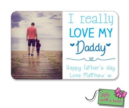 Really love Daddy wallet card