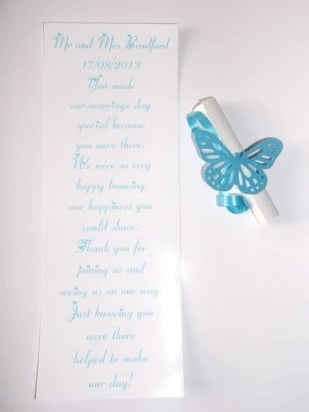 Scrolls with butterflies