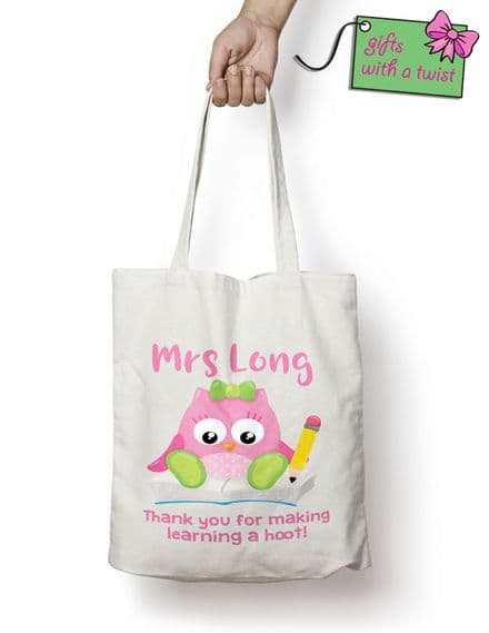 Thank you for making learning a hoot tote bag